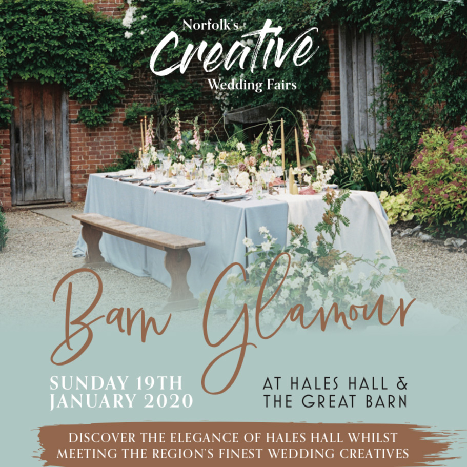 Norfolk Creative Wedding Fair Hales Hall Great Barn