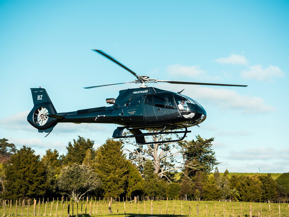 Helicopter rides at Hales Hall