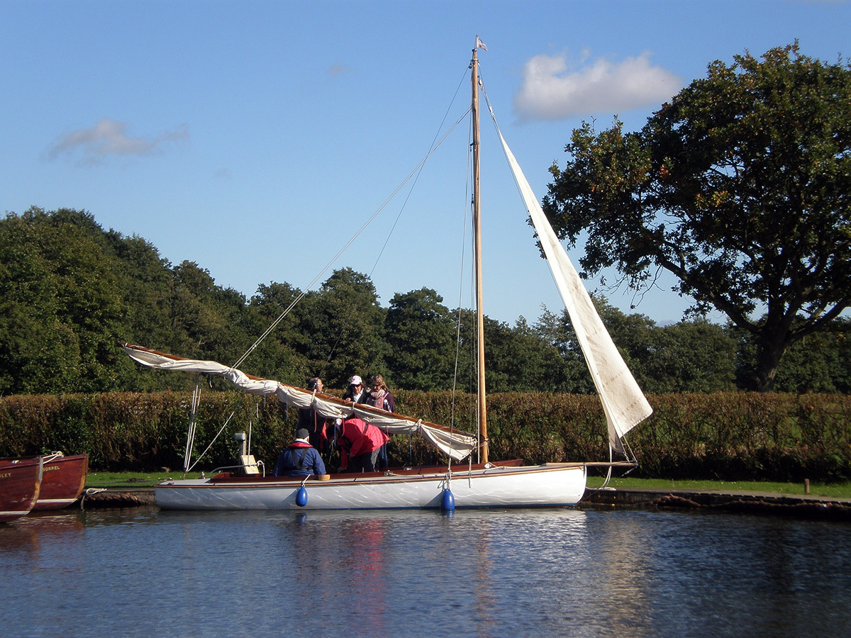 Boating on the Broads near Hales Hall