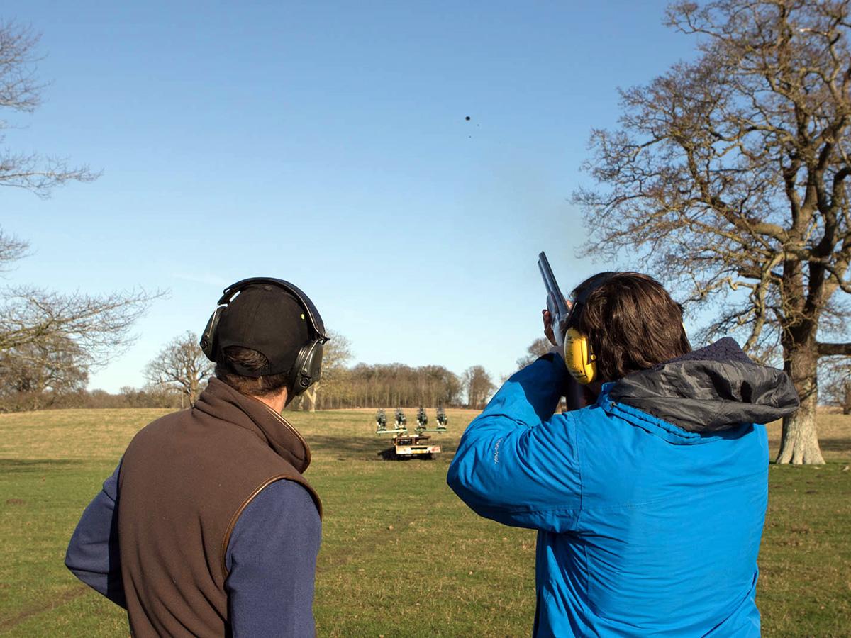 Clay shooting at Hales Hall