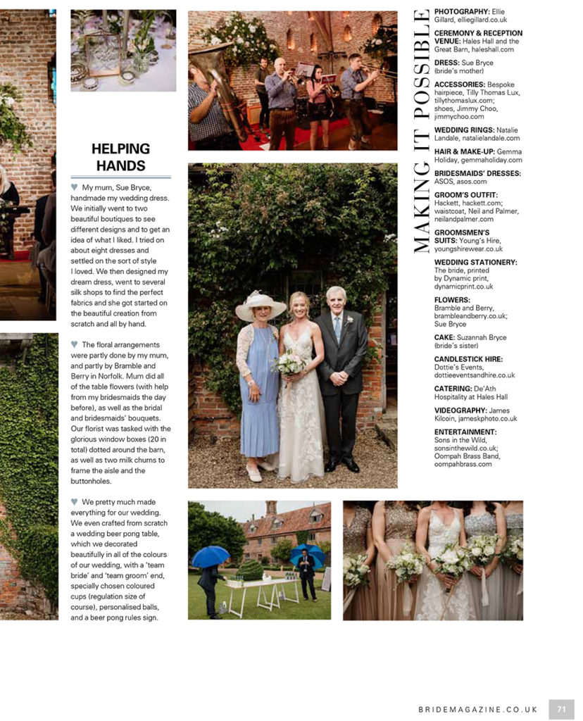 Hales Hall Barn Bride Magazine